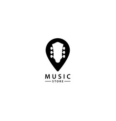 Music store logo design icon vector
