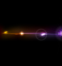 Orange purple glow lens flare effect design vector
