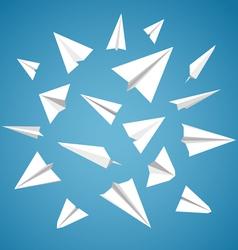 Paper Planes Set vector