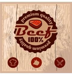 premium beef emblem vector image