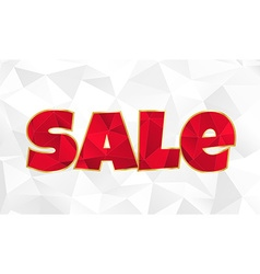 Red polygonal inscription sale on a white vector image