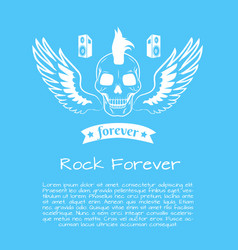 rock forever colorful poster vector image
