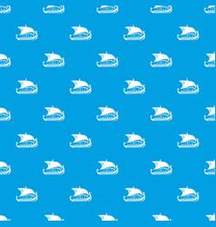 scandinavian ship pattern seamless blue vector image