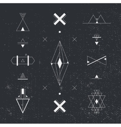 Set of geometric shapes Trendy hipster background vector