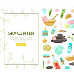 spa center landing page template with space vector image