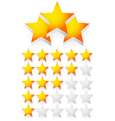 star composition star rating 3d stars vector image