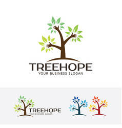 Tree hope logo vector