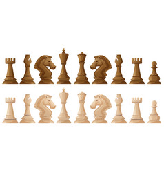 Two colors of chess pieces vector