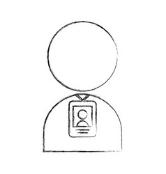 User avatar with safety card vector