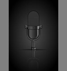 Vintage black microphone vector