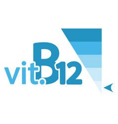 Vitamin b12 content indicator sign vector