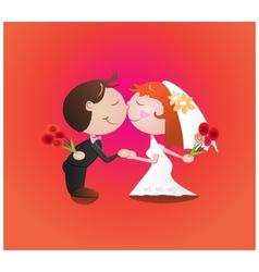Wedding kiss vector