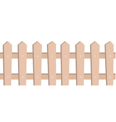 wooden fence seamless pattern on white background vector image
