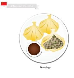 Xiao Long Bao or Chinese Soup Dumplings vector