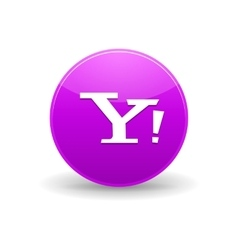 Yahoo icon simple style vector