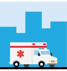 Ambulance car hurry to go vector image vector image