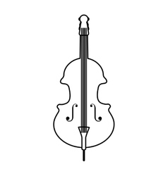 cello instrument isolated icon vector image