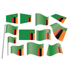 flag of Zambia vector image vector image