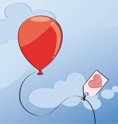 red balloon vector image