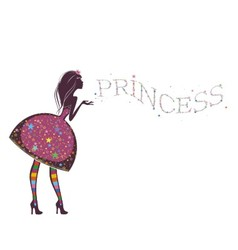 Silhouette of a beautiful princess i vector image vector image