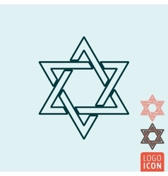 Star of david icon isolated vector