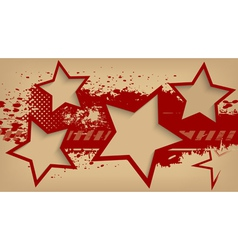 Abstract grunge background with stars vector image vector image