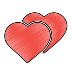 heart cartoon icon image vector image
