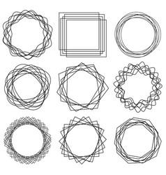 line shape art frame 01 vector image vector image