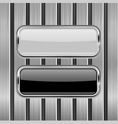 metal perforated background with white and black vector image