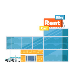 rental business conceptual icon with car showroom vector image vector image