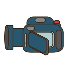 cartoon camera video icon design vector image vector image