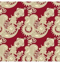 ornate vintage seamless pattern vector image vector image
