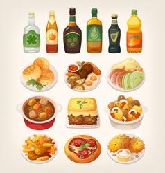 Traditional Irish cuisine vector image vector image