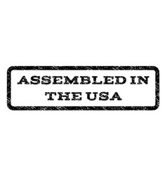 assembled in the usa watermark stamp vector image vector image