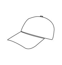 baseball cap black color path icon vector image