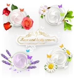 Cream concepts set of vector image vector image