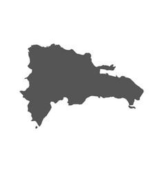 dominican republic map black icon on white vector image vector image