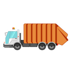 garbage removal service dumpster dustcart truck vector image vector image
