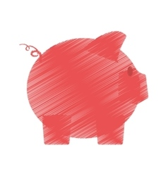 hand draw piggy money safety bank color vector image vector image