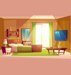 interior of bedroom living room furniture vector image