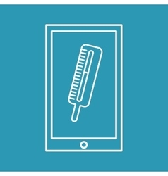 mobile phone medical thermometer design vector image