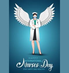 12 may happy international nurse day background vector