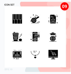 9 creative icons modern signs and symbols of vector