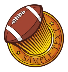 American football club emblem vector