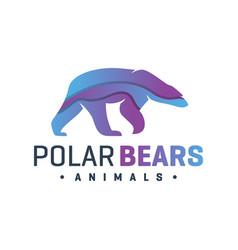 animal bear fur color logo vector image