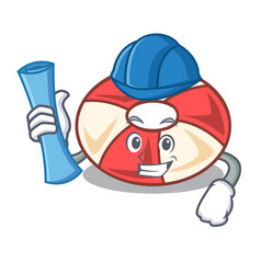architect swim tube character cartoon vector image
