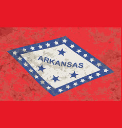 arkansas state flag grunge vector image