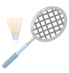 Badminton racket vector