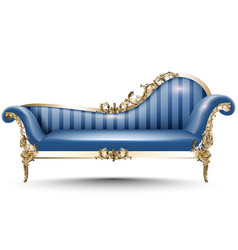 Baroque luxury bench rich imperial style vector