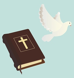 Bible and pigen vector